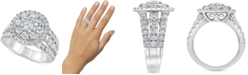 Macy's Diamond Openwork Flower Ring (3 ct. t.w.) in 10k White Gold