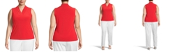 Anne Klein Plus Size V-Neck Sleeveless Top