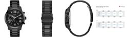 GUESS Men's Chronograph Black Stainless Steel Bracelet Watch 45mm U0668G5