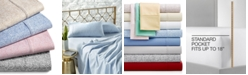 AQ Textiles CLOSEOUT! Highland 4-Pc Printed Sheet Set, 600 Thread Count Sateen Cotton Blend, Created for Macy's