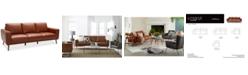 """Furniture CLOSEOUT! Marsilla 88"""" Leather Sofa, Created for Macy's"""