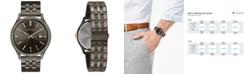Caravelle  Men's Gunmetal Stainless Steel Bracelet Watch 41mm
