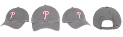 '47 Brand Philadelphia Phillies Dark Gray Pink CLEAN UP Cap