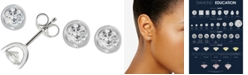 Macy's Diamond Tension Stud Earrings (1/2 ct. t.w.) in 14k White, Yellow or Rose Gold