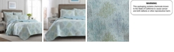 Laura Ashley Full/Queen Saltwater Blue Quilt Set