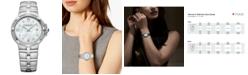 Raymond Weil Women's Swiss Parsifal Diamond-Accent Stainless Steel Bracelet Watch 30mm