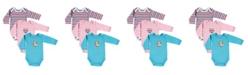 Hudson Baby Long Sleeve Bodysuits, 3-Pack, Birdie, 0-12 Months