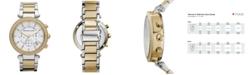 Michael Kors Women's Chronograph Parker Two Tone Stainless Steel Bracelet Watch 39mm MK5626