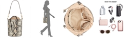INC International Concepts I.N.C. Averry Snake Drawstring Bucket Bag, Created for Macy's