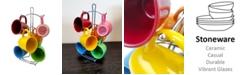 Laurie Gates Color Curve 7 Piece Mug Set with Metal Rack