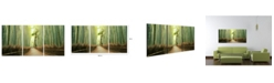 """Chic Home Decor Pine Road 3 Piece Wrapped Canvas Wall Art Forest Scene -20"""" x 40"""""""