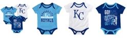 Outerstuff Baby Kansas City Royals Newest Rookie 3 Piece Bodysuit Set