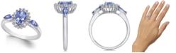 Macy's Tanzanite (1 ct. t.w.) & Diamond (1/3 ct. t.w.) Ring in 14k White Gold