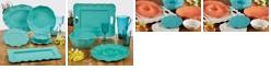 Certified International Perlette Teal Melamine Dinnerware Collection