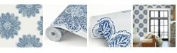 "Brewster Home Fashions Sol Medallion Wallpaper - 396"" x 20.5"" x 0.025"""