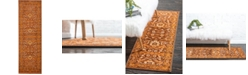 "Bridgeport Home Linport Lin3 Terracotta 3' x 9' 10"" Runner Area Rug"