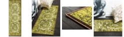 Bridgeport Home Linport Lin7 Green 2' x 6' Runner Area Rug