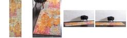 "Bridgeport Home Crisanta Crs1 Multi 2' 2"" x 6' 7"" Runner Area Rug"