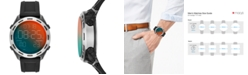Diesel Men's Digital Crusher Black Silicone Strap Watch 46mm