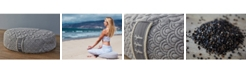 Brentwood Home Crystal Cove Buckwheat Filled Meditation Pillow