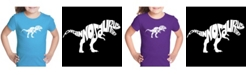 LA Pop Art Girl's Word Art T-Shirt - Tyrannosaurus Rex