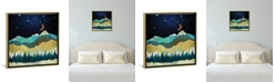 "iCanvas Snow Night by Spacefrog Designs Gallery-Wrapped Canvas Print - 26"" x 26"" x 0.75"""