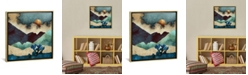 """iCanvas Evening Calm by Spacefrog Designs Gallery-Wrapped Canvas Print - 18"""" x 18"""" x 0.75"""""""