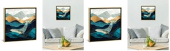 """iCanvas Blue Whale by Spacefrog Designs Gallery-Wrapped Canvas Print - 26"""" x 26"""" x 0.75"""""""