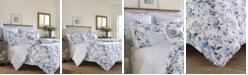 Laura Ashley Chloe Cottage Blue Duvet Set, Full/Queen