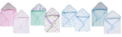 Miracle Baby Boys and Girls Muslin Hooded Towel - Pack of 2