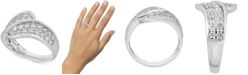 Macy's Diamond Overlap Statement Ring (1 ct. t.w.) in 14k White Gold