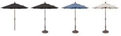 Treasure Garden Outdoor Bronze 7.5' Push Button Tilt Umbrella