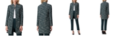 Tahari ASL Stand-Collar Tweed Topper Jacket