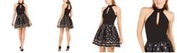 Betsey Johnson Metallic-Dot Fit & Flare Dress