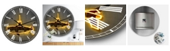 "Designart Yellow Submarine Oversized Modern Wall Clock - 38"" x 38"" x 1"""