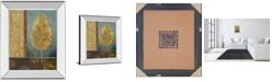 """Classy Art Azure Leaf by Viola Lee Mirror Framed Print Wall Art, 22"""" x 26"""""""