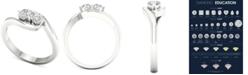 Macy's Diamond Twist Statement Ring (1/2 ct. t.w.) in 14k White Gold