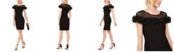 Adrianna Papell Illusion-Neck Sheath Dress