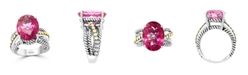 EFFY Collection EFFY® Pink Topaz (6-7/8 ct. t.w) Ring in 18k Yellow Gold and Sterling Silver
