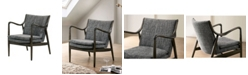 Furniture of America Garret Curved Arms Accent Chair