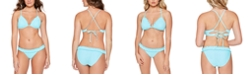 Salt + Cove Juniors' Smocked Triangle Bikini Top & Smocked Bikini Bottoms, Created for Macy's
