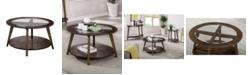 Furniture of America Riston Open Shelf Coffee Table