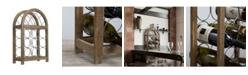 Crystal Art Gallery American Art Decor Rustic Wood 9 Bottle Wine Rack