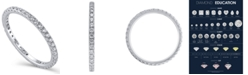 Macy's Certified Diamond (1/2 ct.t .w.) Eternity Band in 14K White Gold