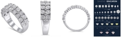 Macy's Certified Diamond (3/8 ct. t.w.) Anniversary in 14K White Gold