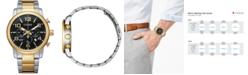 Citizen Men's Quartz Chronograph Two-Tone Stainless Steel Bracelet Watch 42mm