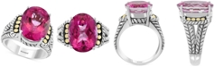 EFFY Collection EFFY® Pink Topaz Statement Ring (13-3/4 ct. t.w.) in Sterling Silver & 18k Gold