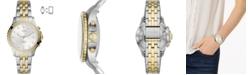 Fossil Women's FB-01 Two-Tone Stainless Steel Bracelet Hybrid Smart Watch 36mm