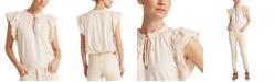 Lauren Ralph Lauren Ruffled Cotton Top