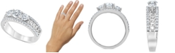 Macy's Diamond Trio Chain Link Engagement Ring (1-1/4 ct. t.w.) in 14k White Gold